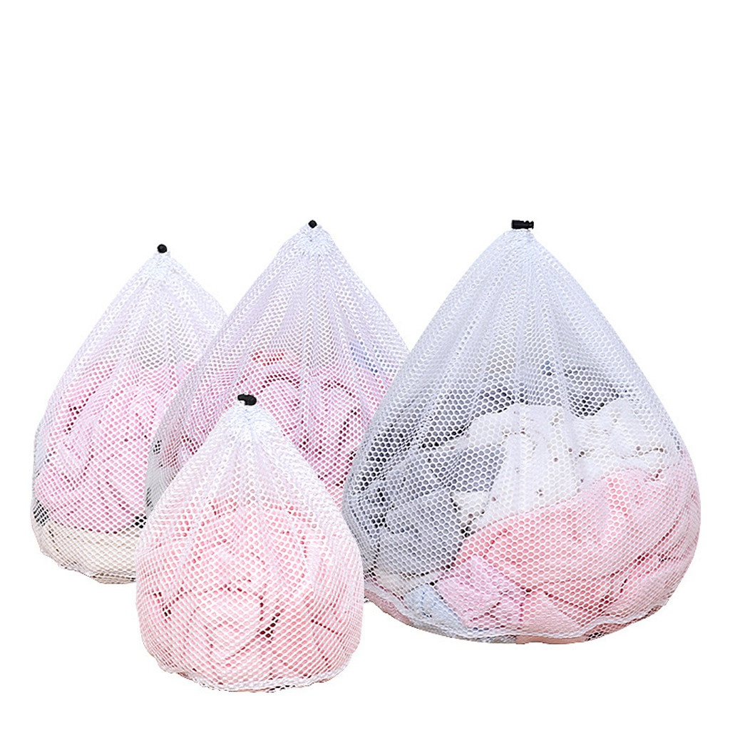 4Pcs Washing Laundry Bags Mesh Laundry Wash Bags For Delicates Lingerie Socks Underwear Bra Foldable Protection Net Filter