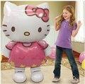 Cute Hello Kitty foil globos de dibujos animados decoración de cumpleaños regalo de los niños 80*48 cm