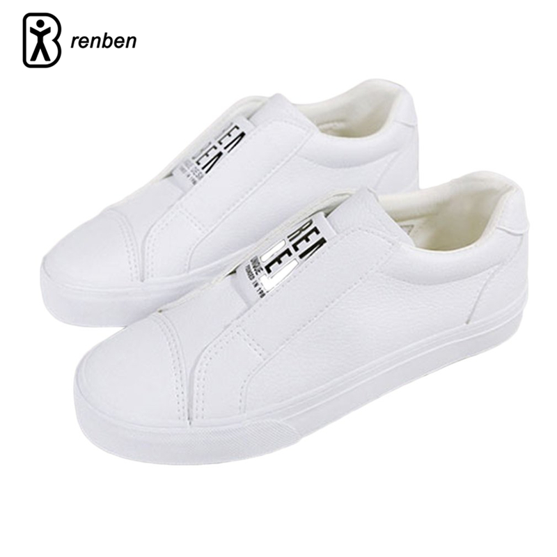 RenBen Leather Casual Women Shoes Fashion Flats Walking Sneaker Loafers Female Shoes Durable Creeper Rubber Woman Shoes renben air mesh women casual shoes fashion flats walking loafers female shoes woman breathable summer shoes zapatillas mujer