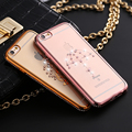 Mulheres rhinestone caso para apple iphone 6 6 s 6 6 s além de coque casos de silicone tpu capa para iphone 6 capa saco do telefone coruja cisne