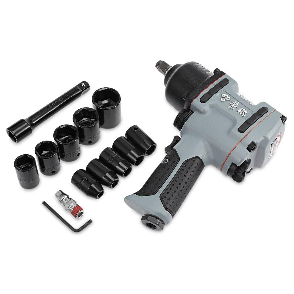 Rongpeng 7445 Professionelle 1/2 zoll Twin Hammer Luft-schlagschrauber Pneumatische Buchse Set Kompakte Pistole werkzeug