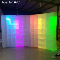 Customized indoor Inflatable photo backdrop,pop up colorful led photo wall,selfie wall with interior blower made by Ace Air Art