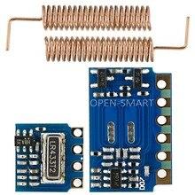 RF module 433MHz for Arduino 433MHz Transmitter Receiver Module RF Wireless Link Kit +2PCS 433MHz Spring Antennas