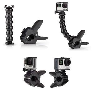 Image 4 - Jaws Flex Clamp Mount for GoPro Accessories Gopro Hero 7/6 3 3+ 4 4 session SJCAM SJ4000 SJ5000 M20 XIAOMI YI 2 4k Eken h9r /h9