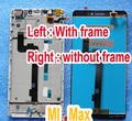 with frame bezel LCD Display + Digitizer touch Screen glass FOR Xiaomi max Mi Max Assembly 6.44 replacement parts flex cable