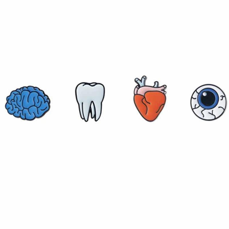Новый японский и корейский стиль эмаль хип хоп Смешное выражение глаза сердце брошь в виде зуба Универсальный аксессуары для одежды