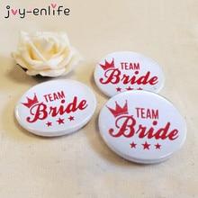 JOY-ENLIFE 1pcs Novelty Team Bride Badge Bachelorette Party Favors Bride To Be Wedding Party Favor Supplies Hen Night Decor