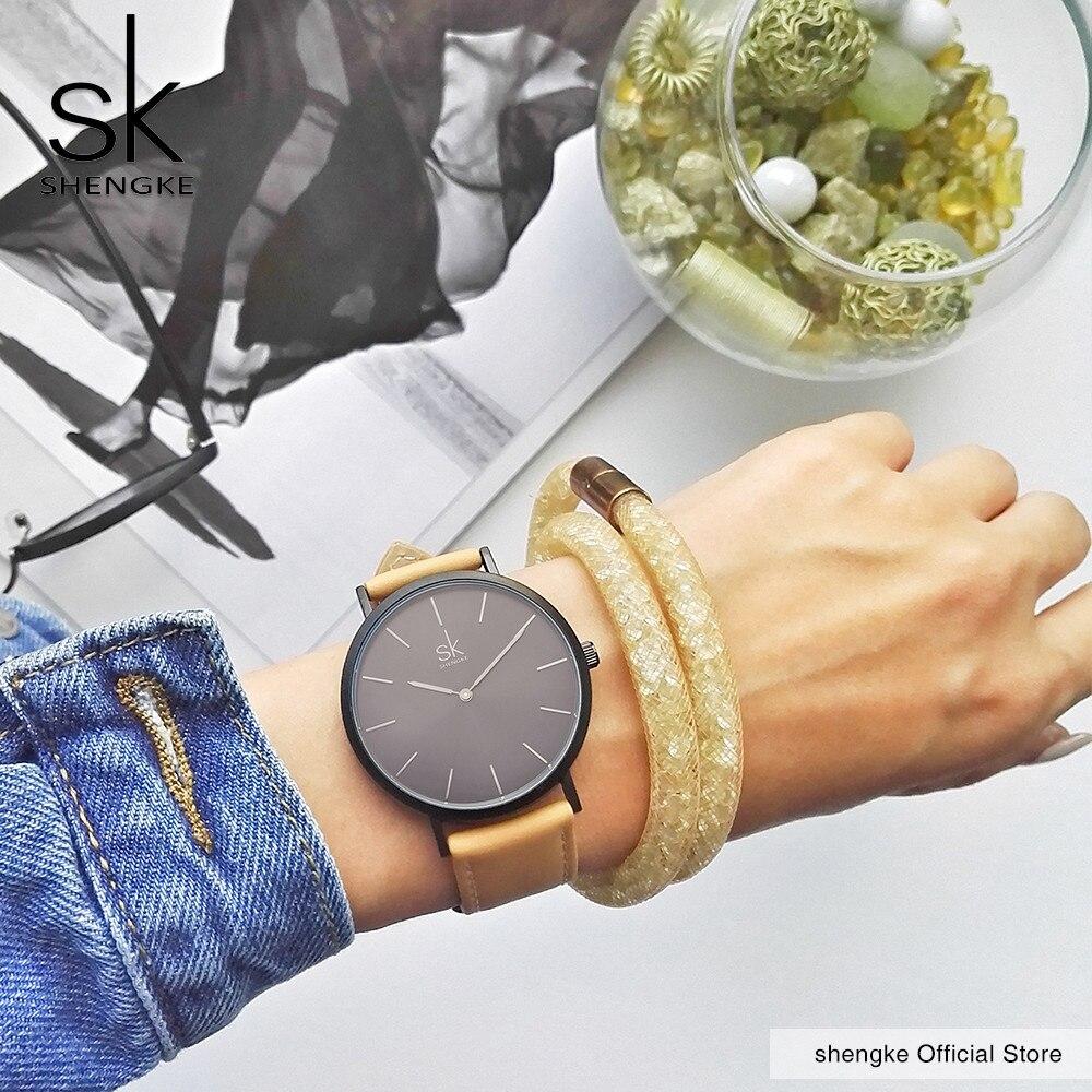 Shengke μάρκα νέα μόδα απλό στυλ κορυφή - Γυναικεία ρολόγια - Φωτογραφία 3