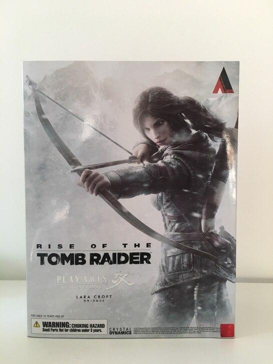 26 cm Le Tomb Raider Lara Croft PA Play Arts Kai action PVC Jouet Rise of The Tomb Raider