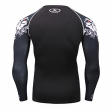 Mens Compression Bodybuilding Skin Tight Long Sleeves T-Shirt