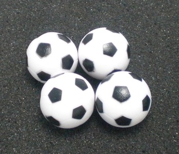 """NEW 4pcs 28mm 1.1"""" BLACK&WHITE SOLID ABS small-sized Foosball table soccer table ball football balls baby foot fussball"""
