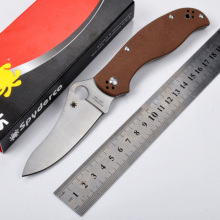 59-62HRC ZDP-189 blade G10 handle folding knife outdoor camping survival tools tactical knives