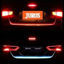 JURUS 120CM/150CM Yellow Turn Signal Lamp 12V For Cars Led Flowing Trunk Strip Daytime Running Light Braking Tail Warning Lights