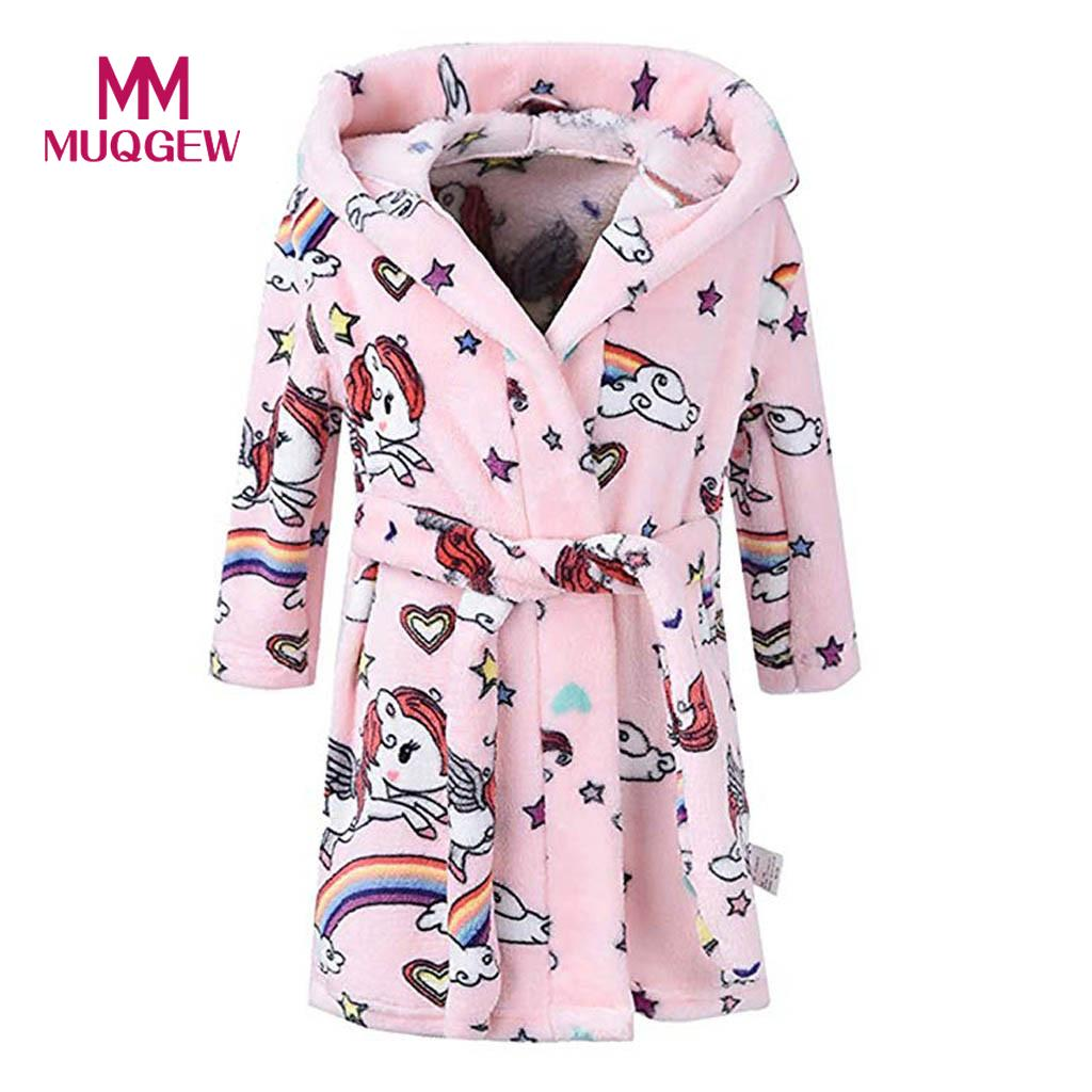 Children Hooded Bathrobes Cartoon Kids Robes Flannel Child Boys Girls Robes Lovely Animal Hooded Bathrobe Cartoon Animal Attractive Fashion Sleep Tops