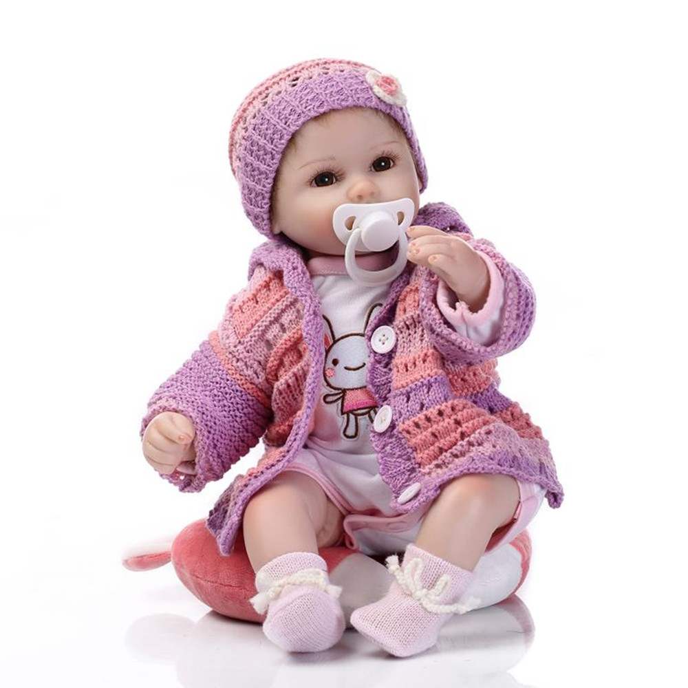 ᐊFashion Silicone Reborn Baby © Doll Doll with Clothes and