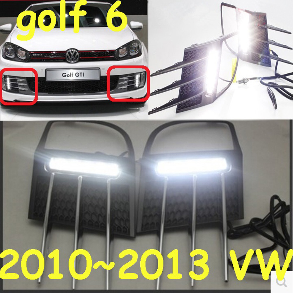 2011~2013 VW Golf6 daytime light; Free ship!LED,VW Golf6 fog light,2ps/set;VW Golf 6 2009 2011 year golf 6 led daytime running light