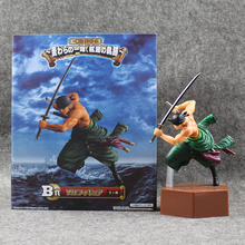 Anime One Piece Figure Roronoa Zoro PVC Figure Battle Version Cool Model for Collection with Box 20.5cm Doll Free Shipping