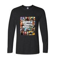 2017 heiße Hochwertiger Baumwolle Grand Theft Auto GTA GTA 5 lustige raglanärmel t-shirt männer