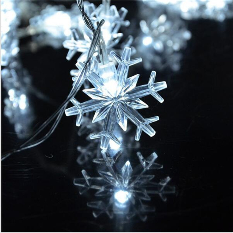10M 50 LED Snowflake String Fairy Lights Nytt År Xmas Party - Festlig belysning - Foto 6