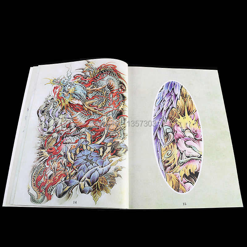 A4 جديد اليابانية نمط التقليدية الوشم فلاش بوذا زهرة القرد الملك كتاب 60 صفحات