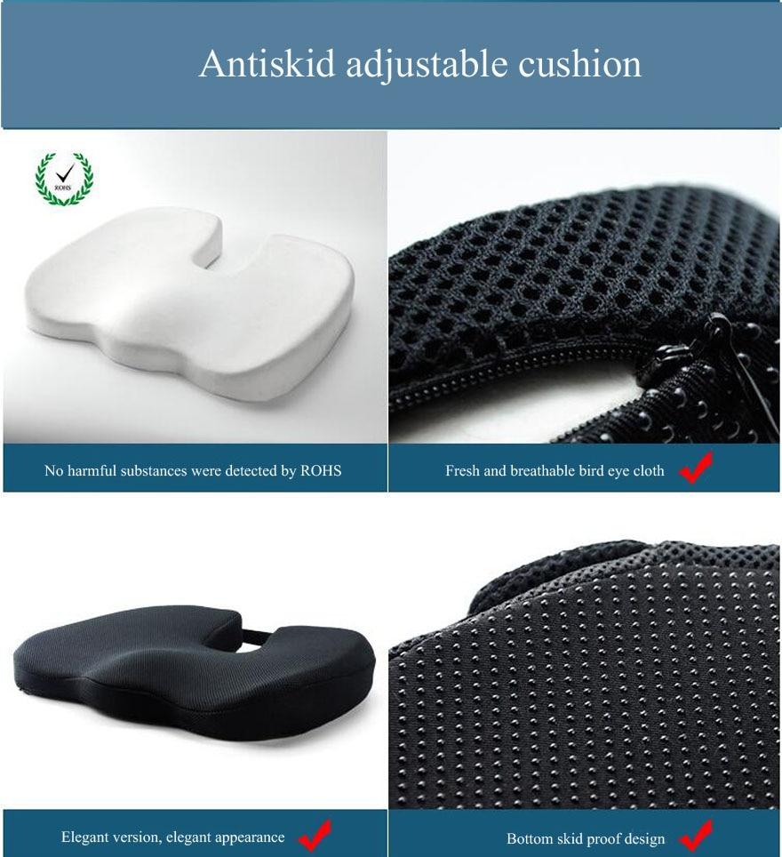 HTB1vzK0XgfHK1Jjy1zbq6yhRFXaP High quality Memory Foam Non-slip Cushion Pad Inventories,Adjustable Car Seat Cushions,Adult Car Seat Booster Cushions