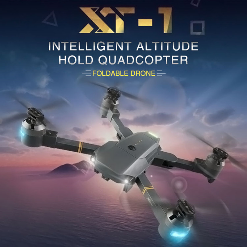 2017 New Toy RC Drones XT-1 Drone With Camera HD Foldable RC Helicopter 2.4GHz 4CH 6-Axis WIFI FPV RTF Dron Real Time Quadcopter