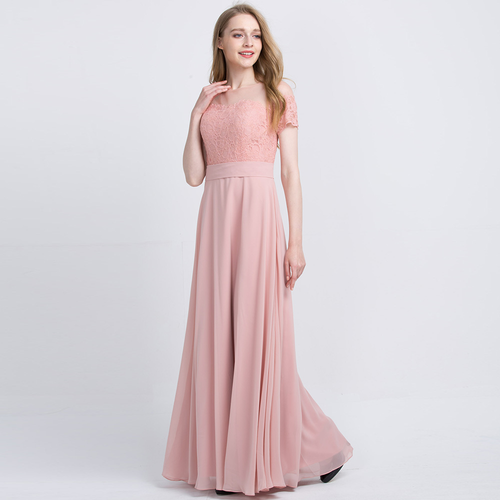 b634270a6513e US $108.39 |BeryLove Long Blush Pink Chiffon Bridesmaid Dresses 2018 With  Sleeves Lace Bridesmaid Dress Plus Size Wedding Party Dresses-in Bridesmaid  ...