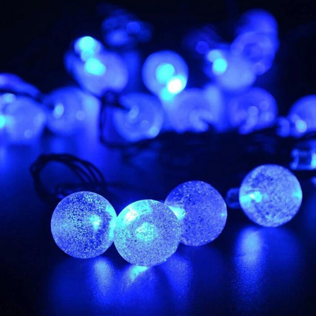 LED Crystal Solar Power Lights