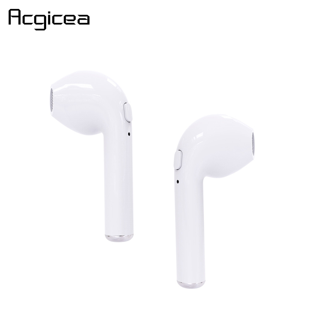 i7 <font><b>TWS</b></font> BT Earphones Wireless <font><b>Bluetooth</b></font> Cordless in ear Headset Mic Sport Earpieces for iPhone Xiaomi Smart Phone No Charging Box image