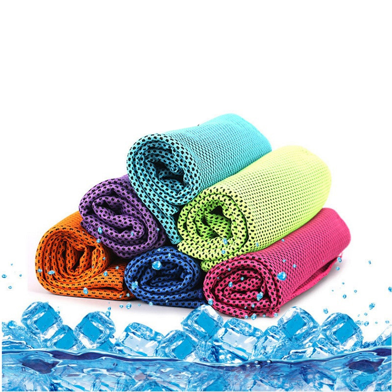 Sports Ice Towel: New 90*30cm Sports Ice Towel Breathable Instant Cooling