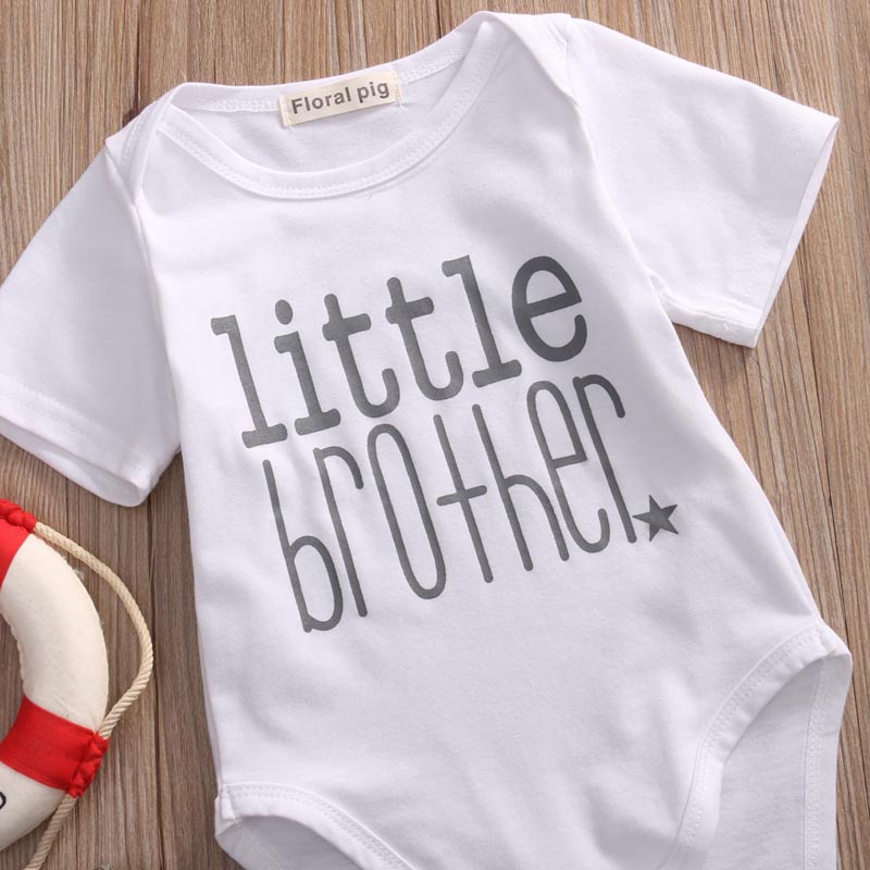 Little Brother Baby Boy Romper 14