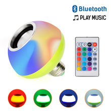 Remote Control Bluetooth LED Music Bulb AC110-265V 7+3W RGB White E27 Led Wireless Lamp for Party