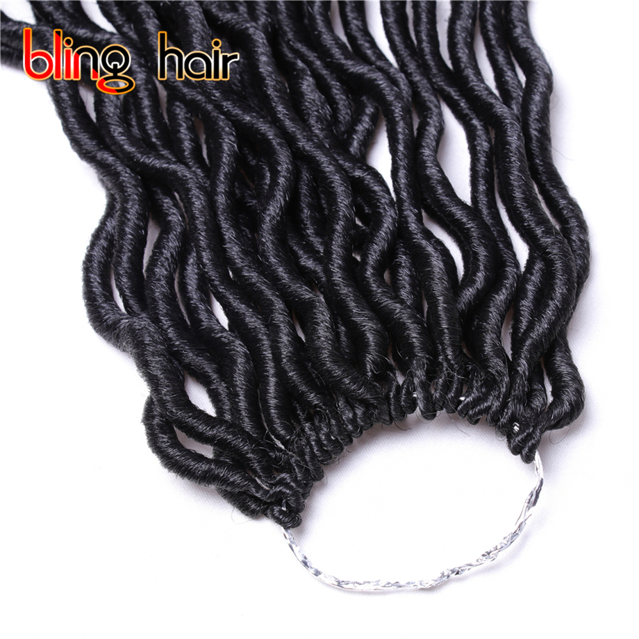 6Pcs/Lot 14 inch Goddess Locs Curly End Crochet Hair Weave Twist Braiding Kanekalon Hair Soft Synthetic Hair 55g 24 Roots