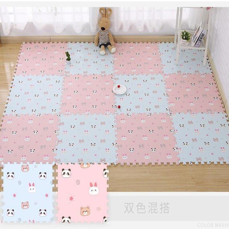 Éléphant bébé Puzzle tapis bébé tapis de jeu EVA mousse éducatif chambre Gym jeu doux plancher ramper verrouillage jouets 30 cm 60 cm - 5