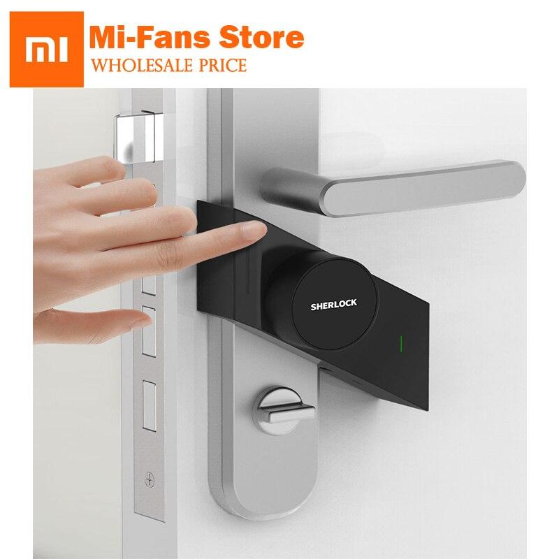 xiaomi Sherlock smart lock M1 mijia Smart door lock Keyless Fingerprint+Password work to mi home app phone control hot sale new