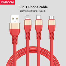 JOYROOM Mobile Phone Data Cable 1 5M Micro USB Type C 3 in 1 Lightning Fast