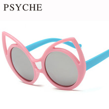 Wholesale 2pcs/lot Kids Cateye Sunglasses Plastic Frame 11 Color Glasses Girls Outdoor 2016 Sun Glasses Oculos infantil X280