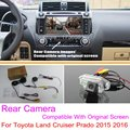 For Toyota Land Cruiser Prado 2015 2016 RCA & Original Screen Compatible / Car Rear View Camera Sets / HD Back Up Reverse Camera