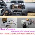 Para Toyota Land Cruiser Prado 2015 2016 RCA y Pantalla Original Compatible/Cámara de Visión Trasera Fija/HD Copia de seguridad Cámara de Marcha Atrás