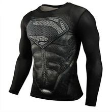 2019 Superman Punisher Rashgard Running Shirt Men T-shirt Long Sleeve Compression Shirts Gym T Fitness Sport