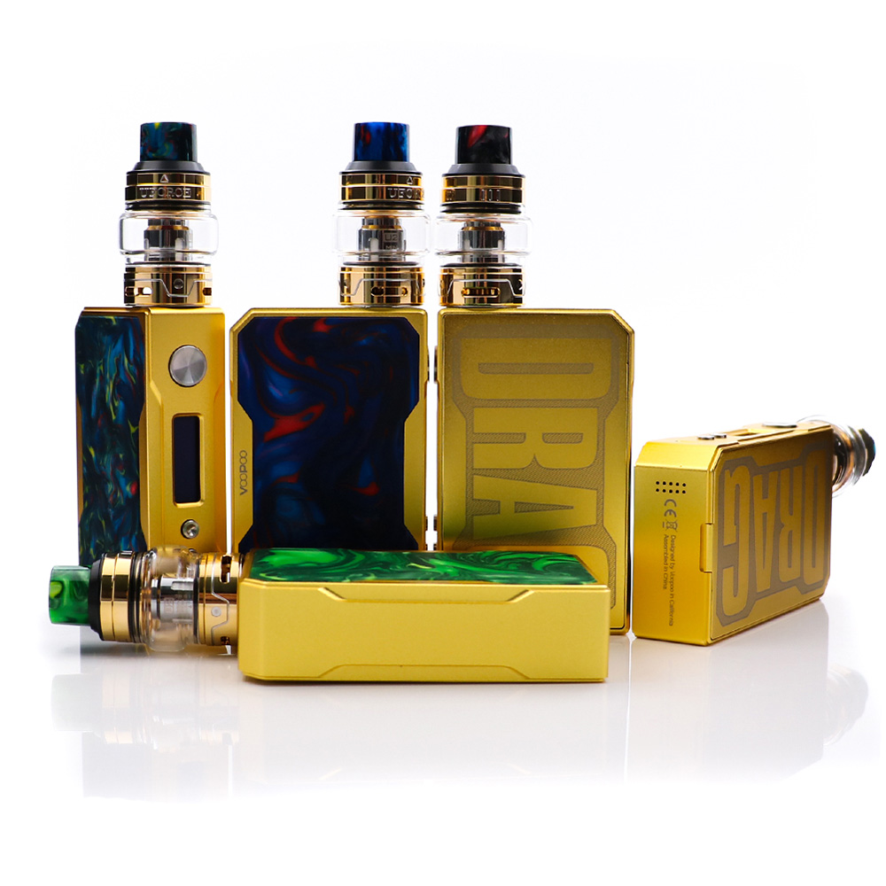 VOOPOO gold Drag 157W mod gold frame voopoo gold drag mod vape cigarette for 18650 battery high quality easy to use