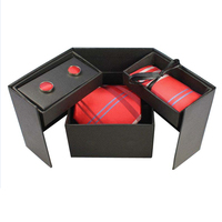 RBOCOTT New Design Tie Set With Variable Gift Box Men's Classic Paisley & Plaid Silk Jacquard Woven Neck Ties Hanky Cufflink Set