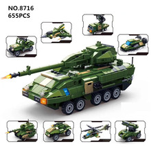 Gudi Military Tank Blocks 8in1 under armour Armored fighting stryker vehicle models Building kit Bricks Toys for Children