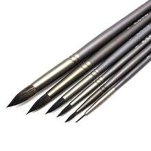 Eval набор из 6 предметов, профессиональная кисть для рисования белка, круглая, заостренная, для художника, ручка товары для рукоделия, для акриловой живописи маслом