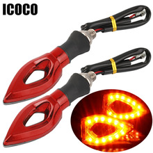 Car lighting Motorcycle font b Motorbike b font Arrow Turn Signal Indicators Blinker Amber Light 12LED