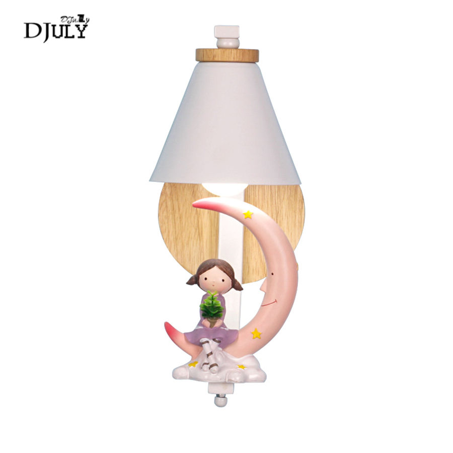 nordic cartoon Moon princess wall lamp for kids bedroom study creative Corridor stairs light lovely children led bedside lampsnordic cartoon Moon princess wall lamp for kids bedroom study creative Corridor stairs light lovely children led bedside lamps
