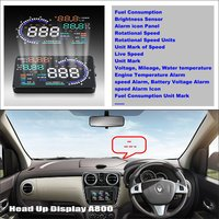 Liislee車hudヘッドアップディスプレイ用ルノーlodgy 2012〜2016の車のコンピュータ画面表示プロジェクターrefkecting風防