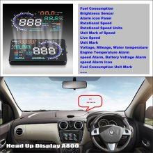 Liislee Car HUD Head Up Display For Renault Lodgy 2012~2016 - Computer Screen Projector Refkecting Windshield