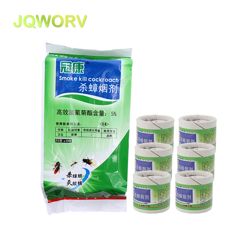 JQWORV Smoke Insecticide Fly Cockroach Mosquito Repeller Killer Home Aerosol Fast Omnidirectional Penetration Pest Control