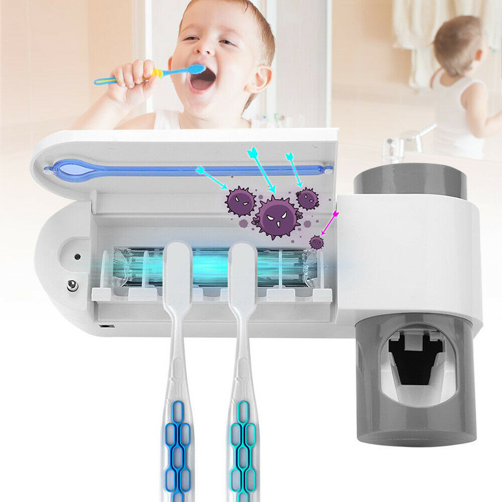 3 в 1 УФ-светильник Стерилизатор зубных щеток без ударов держатель для зубных щеток очиститель автоматические соковыжималки для зубной пасты диспенсер для ухода за полостью рта